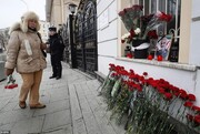 تصاویر | ادای احترام مردم روسیه به شهید قاسم سلیمانی