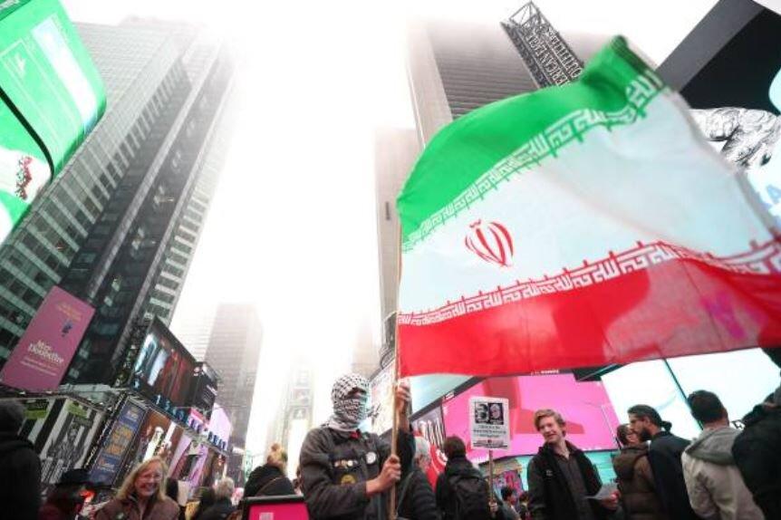 پرچم ایران در نیویورک