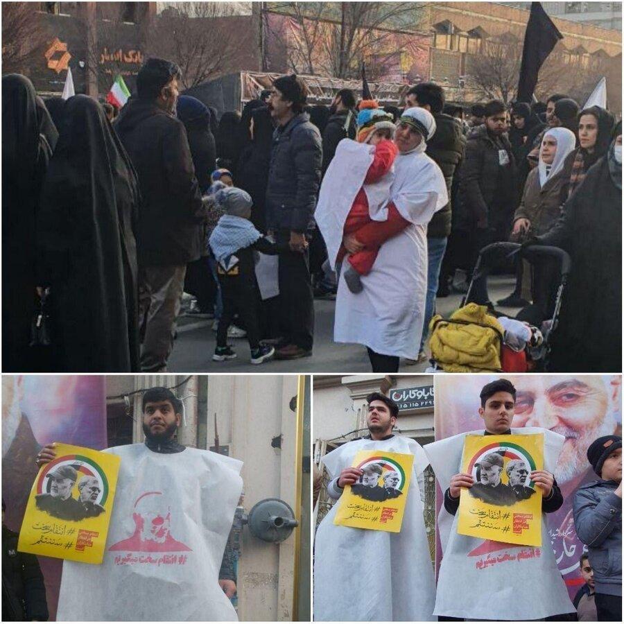 کفنپوش شدن عزاداران مشهدی