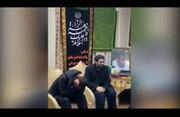 فیلم | اشکهای بیپایان پسر سردار سلیمانی وقتی بنی فاطمه میخواند