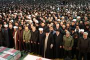 تصاویر چهرههای مطرح در مراسم تشییع پیکر سردار سلیمانی