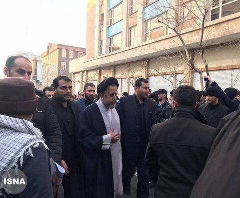 شخصیتها در مراسم تشییع پیکر شهید سلیمانی
