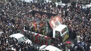 تصاویر | حضور مردم کرمان در مراسم تشییع شهید سردار سلیمانی