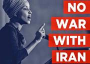 نه به جنگ   نماینده دموکرات: ترامپ جنگطلب را متوقف کنید