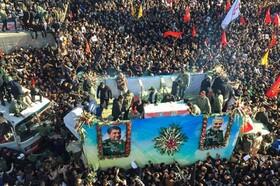 تصاویر هوایی جمعیت باورنکردنی کرمانیها در تشییع شهید سلیمانی