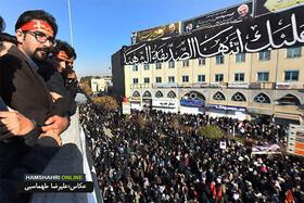 تصاویر   جمعیت باشکوه حاضر در تشییع پیکر سردار شهید سلیمانی در کرمان