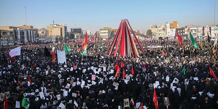 تشییع پیکر در کرمان