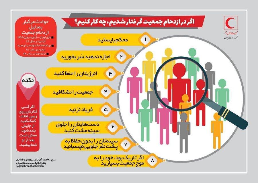 آموزش حفاظت از خود در ازدحام جمعیت