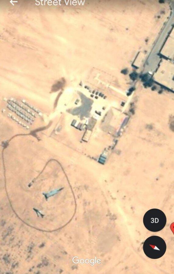 عکس هوایی از آثار حمله موشکی ایران به پایگاه نظامی آمریکا در عراق