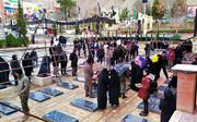 عکس | صف بستن مردم برای زیارت مزار سردار شهید