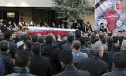 عکس | مراسم تشییع پیکر نادر باقری برگزار شد | حضور علی پروین، پنجعلی و ...