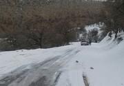 جاده باغچه سادات به دلیل بارش برف مسدود شد