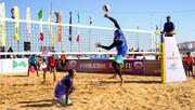 قهرمانی فیروزپور و آقاجانی در تورجهانی والیبال ساحلی درگهان