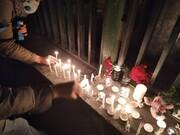 شمع های روشن به یاد مسافران پرواز 737