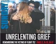 صفحه اول روزنامههای کانادا در یادبود قربانیان پرواز ۷۵۲