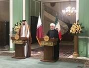 مهمترین محورهای دیدار روحانی و امیر قطر | امیر قطربا رهبری دیدار میکند