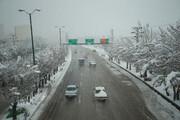 آغاز بارش برف از جادههای جنوبی زنجان به سمت شمال