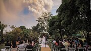 عکس روز | عروسی در جلوی آتشفشان