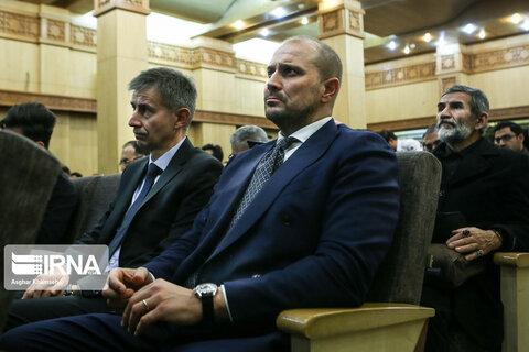 مراسم یادبود دو تن از جانباختگان حادثه سقوط هواپیمای اوکراین