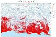 نقشه مناطق سیلزده جنوب سیستان و بلوچستان