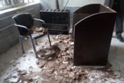 ریزش سقف کلاس مدرسهای در یزد