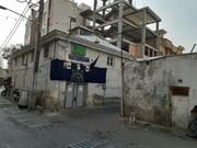 دیوارهای مسجد ۵۵۰ ساله محله دولاب ترک برداشت
