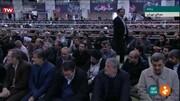 عکس | احمدینژاد کنار فرزند آیتالله هاشمی در صف اول نماز جمعه تهران