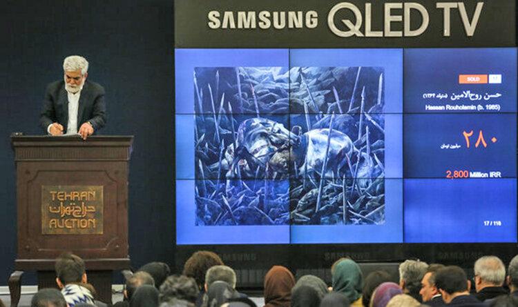 شب ۳۲ میلیارد تومانی حراج تهران  تابلوی عاشورایی ۲۸۰ میلیون چکش خورد