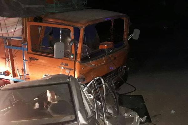 تصادف  جاده همدان تهران