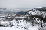 تصویر | برف در گردنه حیران آستارا