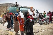 آبرسانی با تانکر در مناطق عشایری خراسان جنوبی