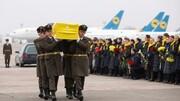 فیلم | مراسم بازگشت جانباختگان اوکراینی سقوط هواپیما به کشورشان | کدام مقامات اوکراینی به فرودگاه رفتند؟