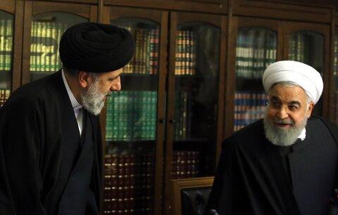 تصاویر | همصحبتی روحانی و رئیسی در جلسه شورای عالی انقلاب فرهنگی