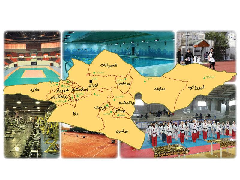 امکانات وزرشی بانوان در استان تهران