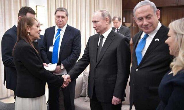 پوتین با خانواده نتانیاهو