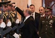 فیلم | برخورد جالب پوتین با سرباز فلسطینی گارد تشریفات که کلاهش افتاد