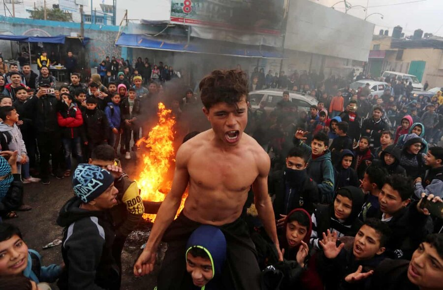 عکس روز | فلسطینی معترض