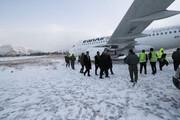«کولاک» ایرباس ۳۱۹ را از باند فرودگاه کرمانشاه خارج کرد