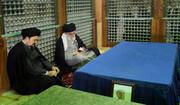 تصاویر | حضور رهبری در مرقد مطهر امام(ره) و گلزار شهدا