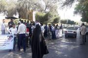 تجمع تعدادی از نیروهای طرحی آبفار خوزستان