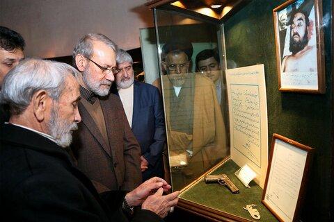 تصاویر لاریجانی، مطهری و علوی در موزه عبرت