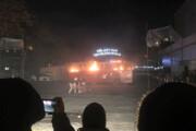 اتوبوسی که در تئاتر فجر آتش گرفت