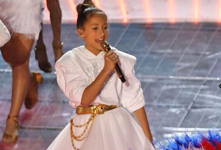 اجراي دختر 11 ساله جنيفر لوپز در سوپر بول 2020