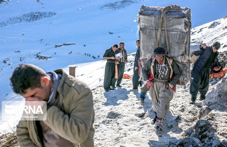 مردم محلی مناطق کردنشین برای کسب درآمد به حمل اجناسی بین دو طرف خط مرزی مبادرت میورزند.