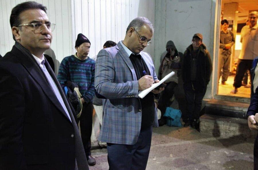 بازديد شهردار شب از گرمخانهها