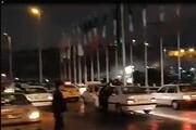 فیلم | تصادف زنجیرهای در تهران
