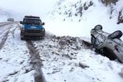 افزایش ۳ برابری تصادفات جادهای همدان بر اثر یخزدگی