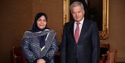 عکس | سومین سفیر زن ایران استوارنامهاش را تقدیم کرد