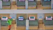 عکس | تختهای خالی در بیمارستانهای ویژه مبتلایان به کروناویروس در چین