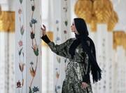 تصاویر | پوشش دختر ترامپ در مسجد شیخ زاید